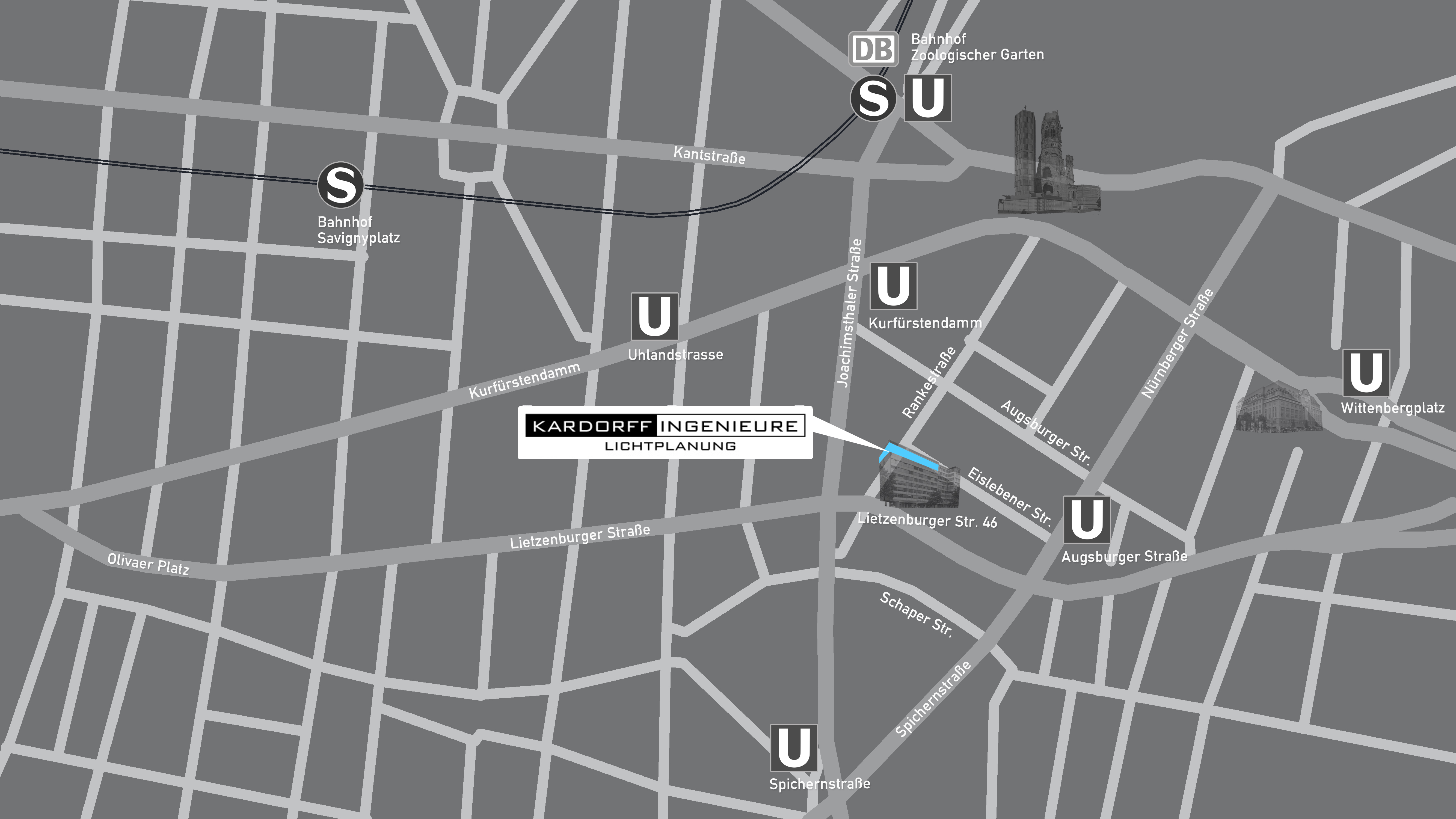 Anfahrt Kardorff Ingenieure Lichtplanung Berlin