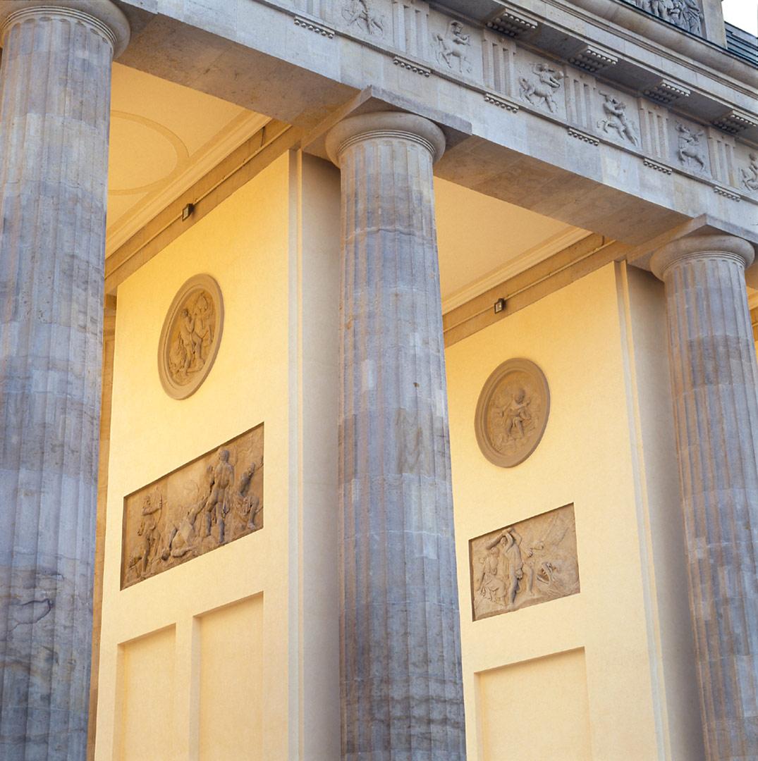 Brandenburger Tor_Detail, beleuchtet von Kardorff Ingenieure Lichtplanung