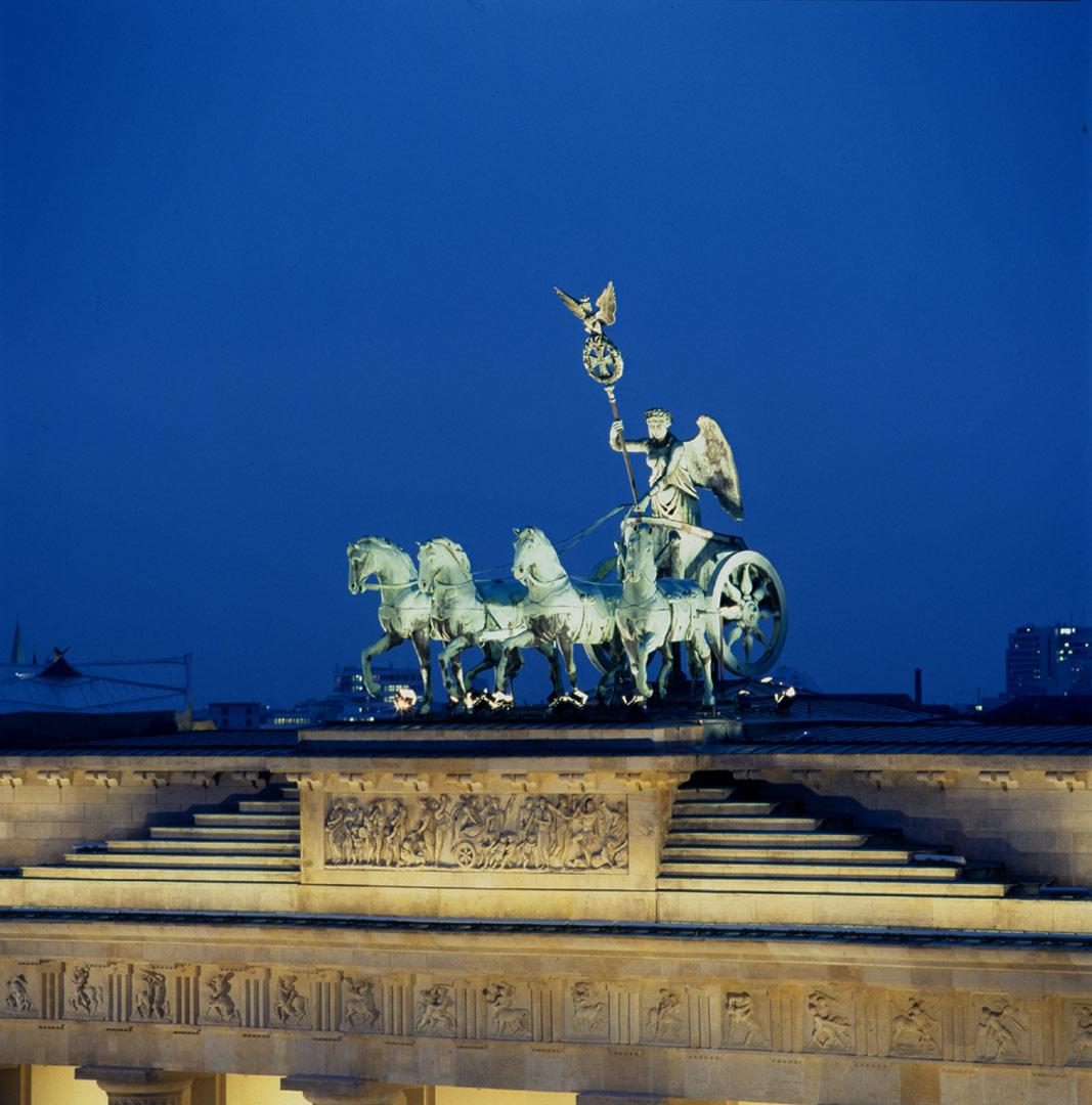 Brandenburger Tor, beleuchtet von Kardorff Ingenieure Lichtplanung