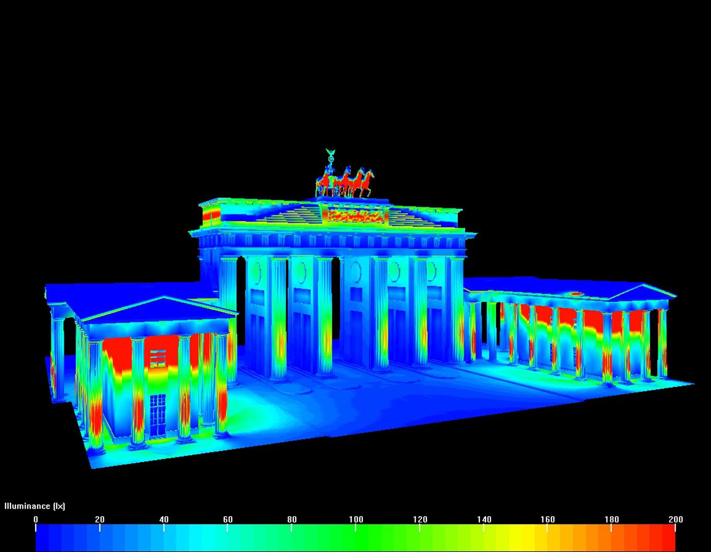 Brandenburger Tor, simuliert von Kardorff Ingenieure