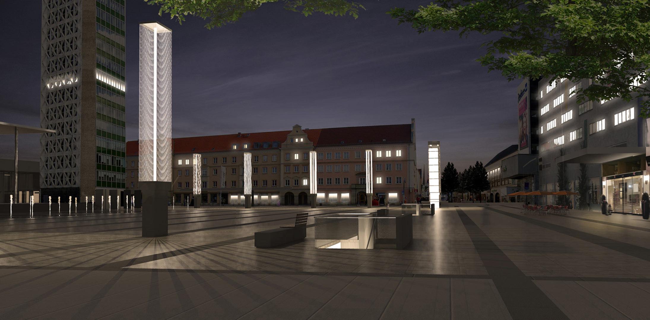 Marktplatz Neubrandenburg_Rendering_Kardorff Ingenieure Lichtplanung
